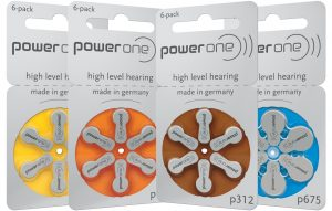 Батарейки для слуховых аппаратов PowerOne