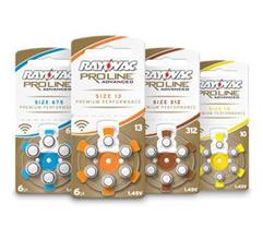 Батарейки для слуховых аппаратов Rayovac Proline