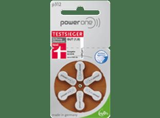 Батарейки для слуховых аппаратов Powerone 312