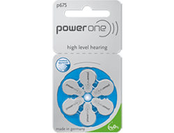Батарейки для слуховых аппаратов Powerone 675