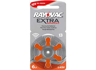 Батарейки тип 13 для слуховых аппаратов Rayovac Extra