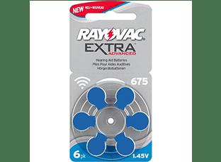 Батарейки 675 для слуховых аппаратов Rayovac Extra