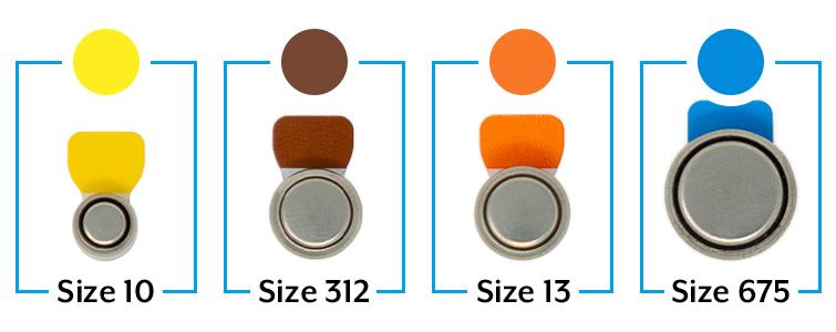 Цветная маркировка батареек для слуховых аппаратов