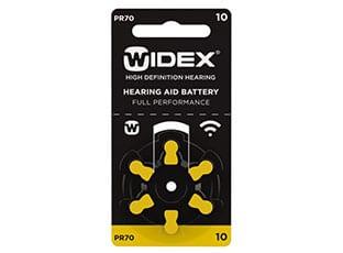Батарейки Widex размер 10 для слуховых аппаратов