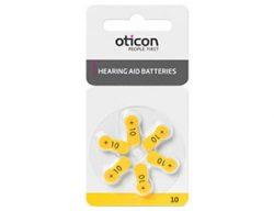 Батарейки Oticon размер 10 для слухового аппарата