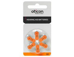 Батарейки Oticon размер 13 для слухового аппарата