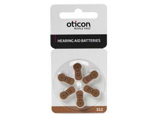 Батарейки Oticon размер 312 для слухового аппарата